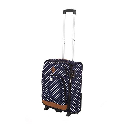 Rada Trolley Rainbow T1 55cm Handgepäck Koffer in verschiedenen Farben (grey two tone cognac) blue dots