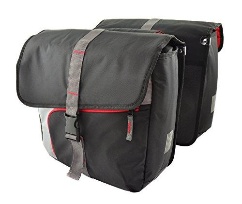 Cordo Doppeltasche Santo E-bike antracit/Rot