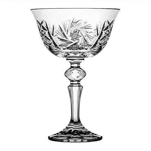 Crystaljulia 2255  Martiniglas, Kristall, 180 ml, 10.5 x 10.5 x 15.5 cm,  6 Einheiten