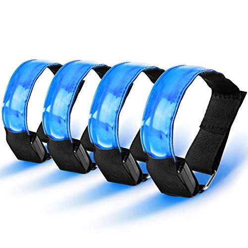 AODOOR LED Armband, Reflective LED Armbänder Leuchtband Jogging Licht und Sicherheitslicht Für Outdoor-Sport, Nachtlauf, große Festivalabende, Konzerte