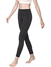 Lapasa Women's Leggings - TUMMY CONTROL - Plus Size High Waist Mesh Yoga Pants Running Tights For Gym & Workout |Hidden Pocket| L01
