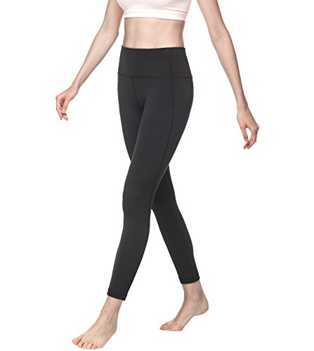 Lapasa Damen Sport Leggings - TUMMY CONTROL - High Waist Lang Yoga Sportleggings Übergröße Sporthosen Tights für Gym Fitness Workout L01
