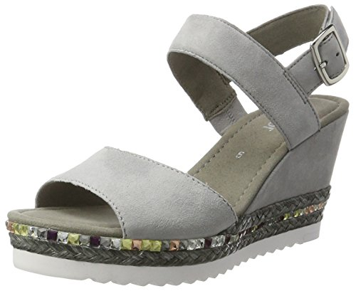 Gabor Shoes Fashion, Sandali con Zeppa Donna Grigio (stone 19)