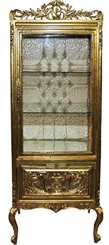 Casa Padrino Barock Vitrine Gold/Gold - Vitrinenschrank - Wohnzimmerschrank Glasvitrine - Antik Look