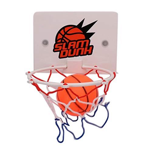 WEIWEITOE Tragbare lustige Mini basketballkorb Toys kit Indoor Hause Basketball Fans Sport Spiel Spielzeug Set Kinder Kinder Erwachsene, weiß,