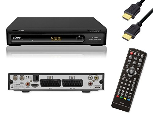 COMAG 11045-3 SL 40 HD-TV Satelliten Receiver PVR Ready (USB 2.0 für externe Festplatte/USB-Stick, 2x Scart, HDMI) schwarz