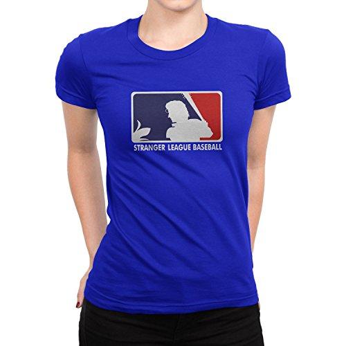 Planet Nerd Stranger League Baseball - Damen T-Shirt Blau
