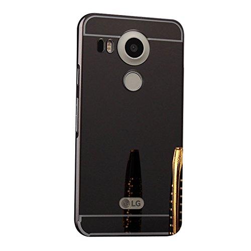 detailed look 54165 28e11 Funda LG Nexus 5, Forhouse Ultra Delgado Lujo Lustroso [Espejo Duro PC  Cubrir + Metal Marco de Parachoques] Durable [Heavy Duty] Anti-Choques ...
