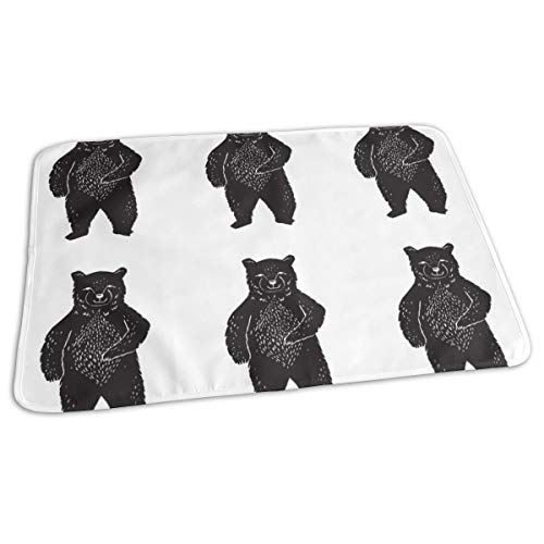 Forest Bear Plush Plushie Cut And Sew Pillow Crib Bedding Baby Portable Reusable Changing Pad Mat 19.7x 27.5 inch ()