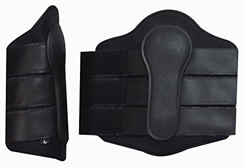 Pferde-Sehnenschoner, Neopren, doppelter Klettverschluss, schwarz, Schwarz , S