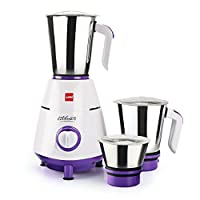 Cello Grind N Mix 800- 3 Jar Mixer Grinder, 500W Violet