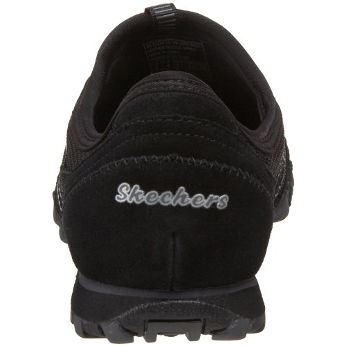 Skechers Damen Bikers Hot-Ticket Sneaker Schwarz (Bkcc)