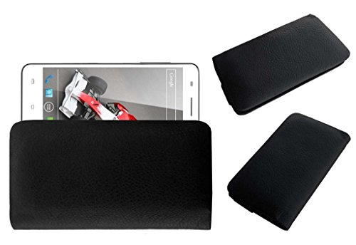 Acm Rich Leather Soft Case For Xolo Q3000 Mobile Handpouch Cover Carry Black  available at amazon for Rs.179
