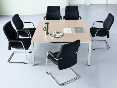 Konferenztisch, quadratisch - HxLxB 720 x 1400 x 1400 mm - Ahorn-Dekor - Besprechungstisch Besprechungstische Besuchertisch Besuchertische Bürotisch...
