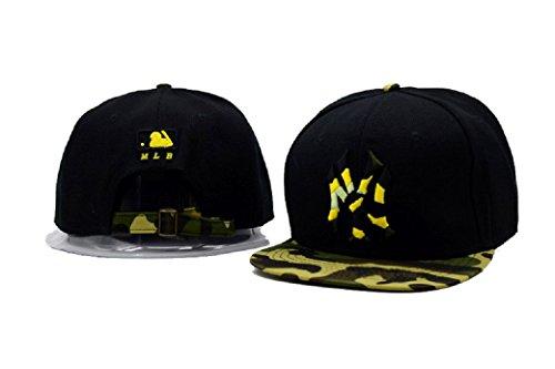 Neue Mode Schwarz mit Camouflage Brim (Baseball Yankees Kostüm)