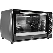 Horno con pincho giratorio, aire de recirculación, temporizador, mini horno para pizza,