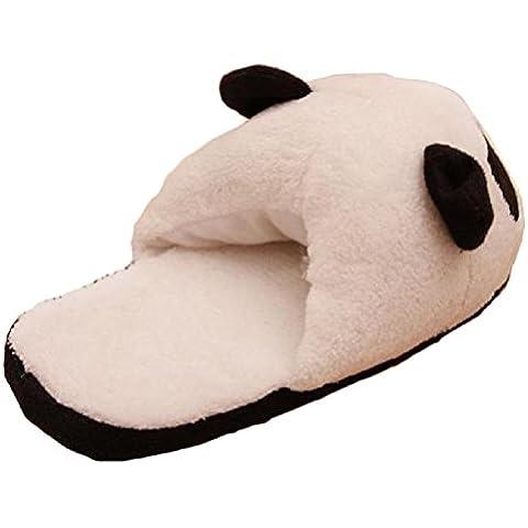 Pantuflas Invierno,Xinan Mujer Panda Calentar Felpa Inicio Zapatillas