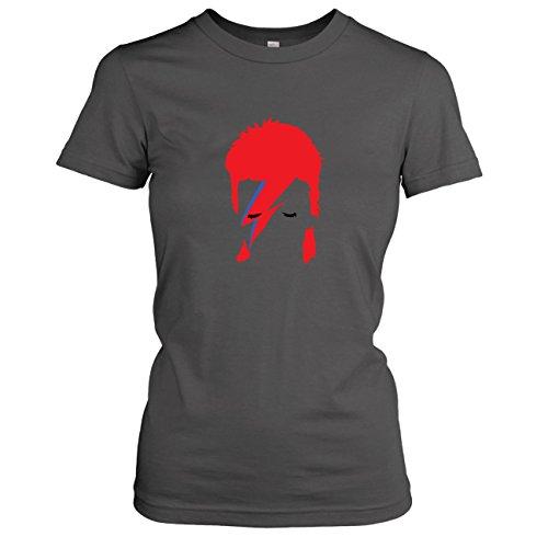 TEXLAB - Ziggy - Damen T-Shirt, Größe XL, (Bowie Kostüm Stardust Ziggy)