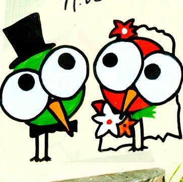 Vogelhaus Hochzeit, Vogelhochzeit, Vogelvilla, Hochzeitsgeschenk,Vogelhaus mit Beschriftung - 3