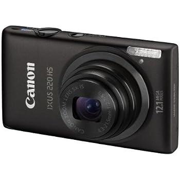 Canon Ixus 220 HS Fotocamera Digitale 12.1 MP, Nero