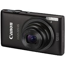 Canon IXUS 220 HS Digitalkamera (12 Megapixel, 5-fach opt. Zoom, 6,9 cm (2,7 Zoll) Display, Full HD, bildstabilisiert) schwarz