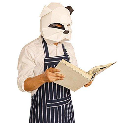 Homelix 3D Papier Maske Tierkopf Formen DIY Halloween Party Kostüm Cosplay Gesichts Papier-Craft Kit (Vicious Hund) (Hund Kostüme Diy)