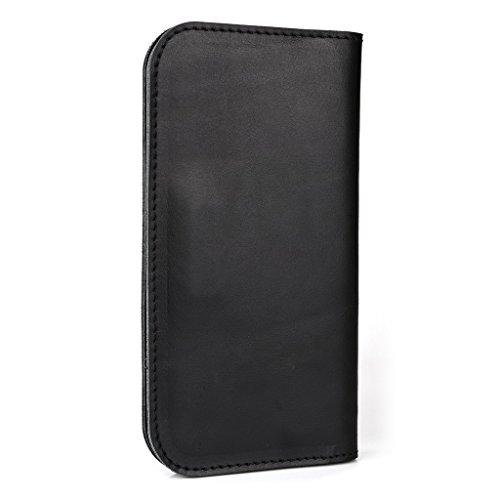Étui portefeuille en cuir véritable pour Allview A6Quad/S5simplement pour noir - noir noir - noir
