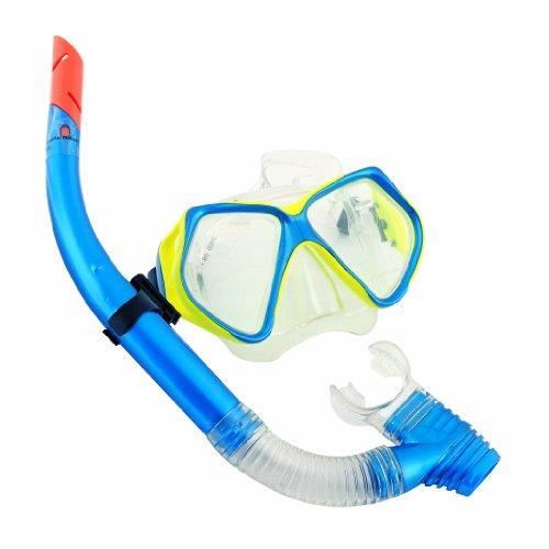 Bestway Schnorchel- Tauchset Maske Ocean Diver, Grau, Blau Sortiert, 24003
