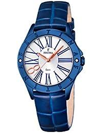 Festina Damen-Armbanduhr Journees Analog Quarz Leder F16931/1