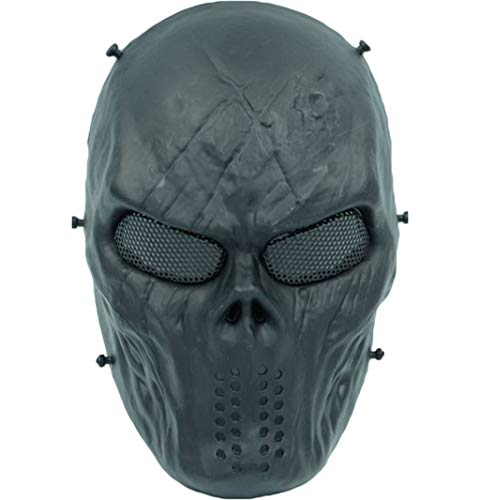QWEASZER Terminator Deathstroke Mask Halloween Ritter Maske Cosplay Erwachsene Männer Integralhelm Kostüm Film Karneval Kostümzubehör,T-29 * 22cm