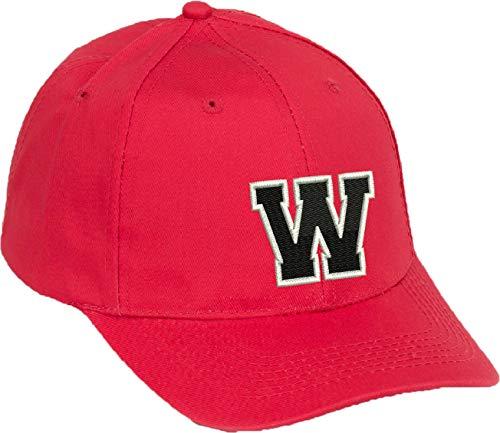 olle Alphabet A-Z Red Caps Schwarz Brief Snap Back Hut Hüte Unisex Jungen Mädchen oder Mann Cap Baseball Cap ROT Hut Kinder Cap Alphabet A-Z (Rot W, Kinder) ()
