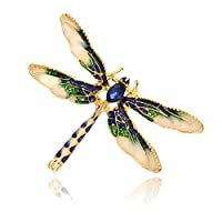 Beafavor Cute Insect Drop Oil Brooch Small Fresh Sweet Clothing Accessories Jewelry (Blue)