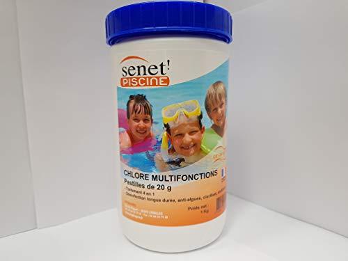 Boite 1 kg de pastilles de chlore pour piscine