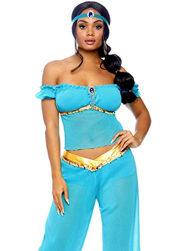 Harem Teiliges 3 Kostüm - LEG AVENUE 83857 - Arabian Beauty Kostüm, Größe M, türkis