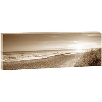Bild bilder auf leinwand weg zum meer sepia nordseestrand panorama xxl poster - Dekoartikel meer ...