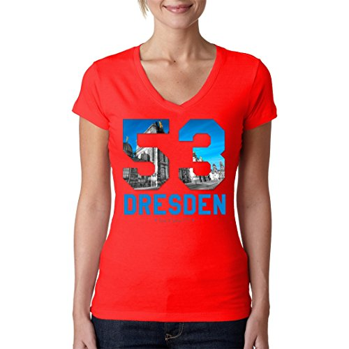Sport Girlie V-Neck Shirt - Dresden T-Shirt by Im-Shirt Rot