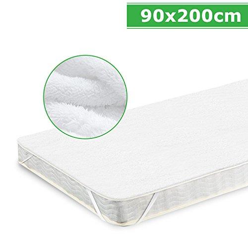 Matratzenschoner 90x200cm matratzenschoner matratzenschutz, Adoric Wasserundurchlässige Matratzenauflage in verschiedenen Größen 90x200cm(Weiß)