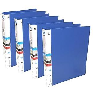 SEPAL Ring Binder File, 2D A4 Size Tough & Durable A4 Size Ring Binder Box Board File (Blue) -4pk