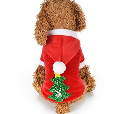 Weihnachten Hund Kleidung kleine Hunde Santa Kostüm für Haustier Katze Neujahr Kleidung Jacke Mantel Haustiere Kostüm,S
