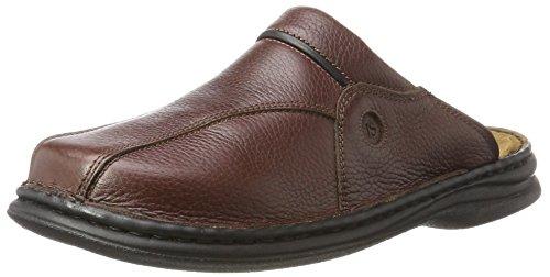 Josef Seibel Klaus Herren Clogs | Echtleder-Herrenschuhe für drinnen und draußen | Komfort-Schuhe aus Rindsleder, Braun (341 brasil/schwarz), 44 EU