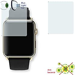 2 x DISAGU ClearScreen screen protection film for Apple Watch Edition 42mm antibacterial, BlueLight filter protective film (intentionally smaller than the display due to its curved surface)