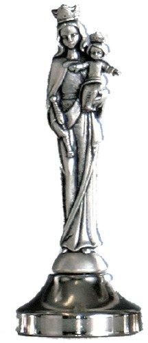 Ferrari & Arrighetti Estatua María Auxiliadora de Metal Plateado con imán - 5 cm (Paquete de 5 Piezas)