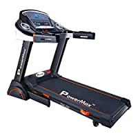 Powermax Fitness TDA-230 2 HP (4 HP Peak) Motorized Treadmill - Free Installation Service - 3 Years Motor Warranty - with Semi Auto Lubrication  & Dual Shock Spring