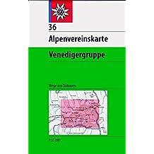 Venedigergruppe: Wege und Skitouren - Topographische Karte 1:25.000 (Alpenvereinskarten)