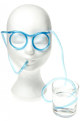 12er Pack Strohhalmbrille Spass Brille Trink Brille Trinkbrille Strohhalm Brillen Partybrille Partybrillen 4 farbig sortiert Funbrille Saufbrille