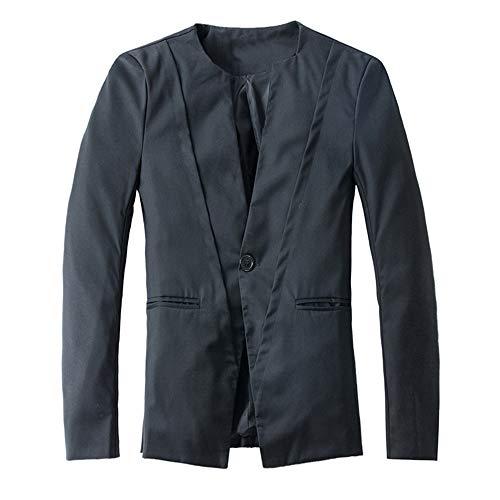 Herren Cardigan Coat,TWBB Einfarbig Suit Formal Passen Mit Knopf Outwear Mantel Pullover Persönlichkeit Lange Ärmel Hemd
