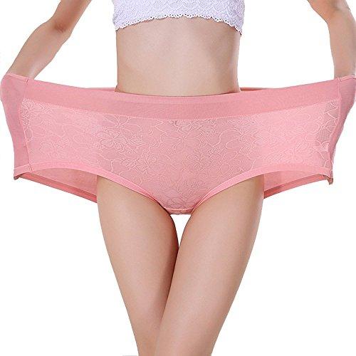 TEERFU Womens 3Pack Bamboo Underwear High Waist Full Boxers Briefs Boyshort