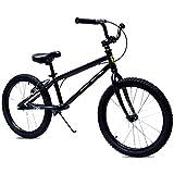 Draisiennes Velo sans pedale Balance Bike Pneumatique Air 50 cm (20 Pouces) - Vélo Noir sans entraînement pour Adultes, avec Frein à Main, Cadeau d'anniversaire garçon