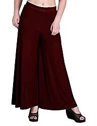 Tara Lifestyle stretchable Plain Casual Wear Palazzo Pant for Women's are Dark Maroon in colour.