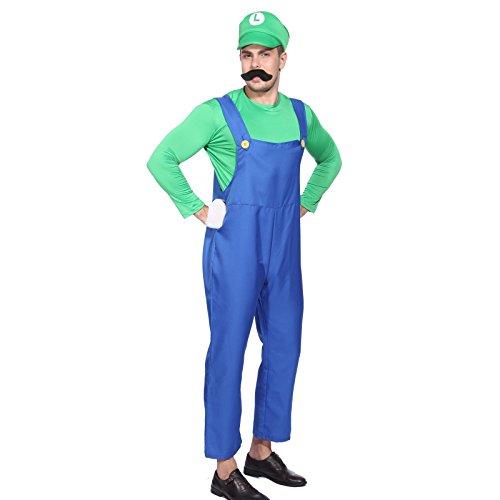 Imagen de cle de tous  disfraz de luigi para adulto hombre cosplay dress fiesta carnaval halloween talla xl alternativa